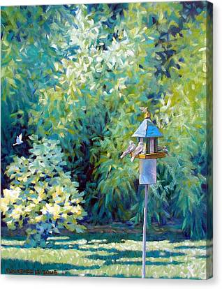 The Bird Feeder Canvas Print