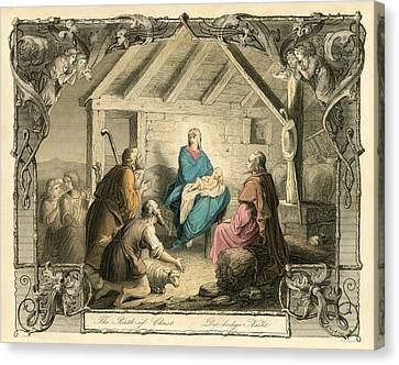 The Birth Of Christ Canvas Print by English School