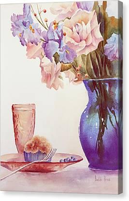 The Blue Vase Canvas Print by Bobbi Price