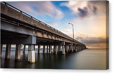 The Bridge Between Good And Evil Canvas Print by Clay Townsend