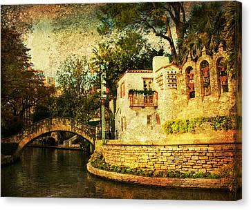 The Bridge Canvas Print by Iris Greenwell