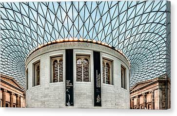 Ceiling Canvas Print - The British Museum by Adrian Evans