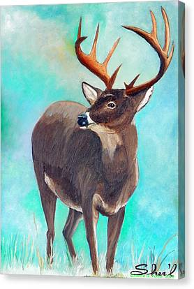 the Buck Stops Here Canvas Print by Sherril Porter