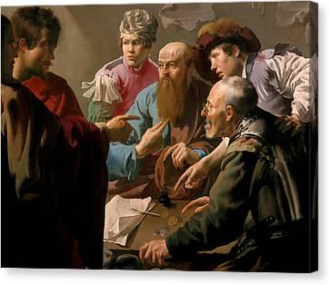 The Calling Of Saint Matthew Canvas Print by Hendrick ter Brugghen