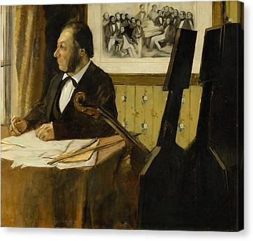 The Cellist Pilet Canvas Print by Edgar Degas