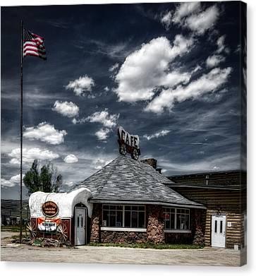 The Chuck Wagon Cafe Canvas Print by Mountain Dreams