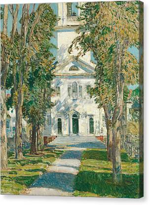 The Church At Gloucester Canvas Print by Childe Hassam