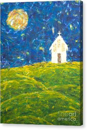 The Church At Newberg Canvas Print by Scott Gearheart