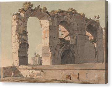The Claudian Aquaduct, Rome Canvas Print