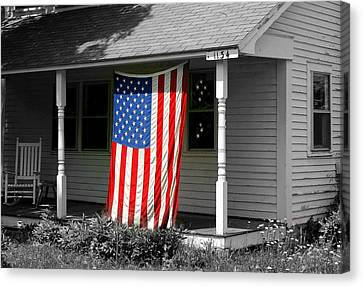 The Colors Of Freedom Canvas Print by Linda Galok
