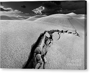Sand Dunes Canvas Print - The Crack Of Dawn by Julian Cook