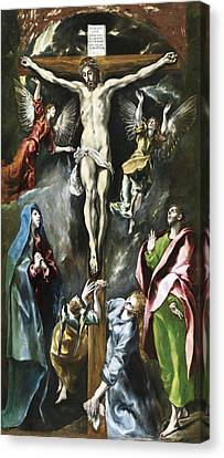 The Crucifixion Canvas Print by El Greco