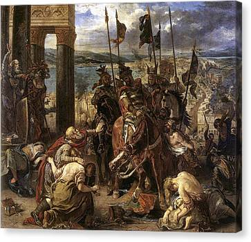 The Crusaders Entry Into Constantinople Canvas Print