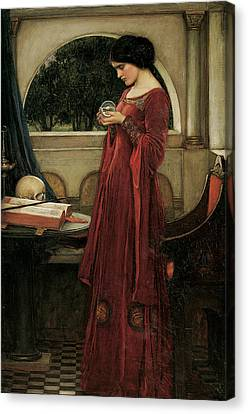 Casting Canvas Print - The Crystal Ball by John William Waterhouse
