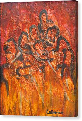 The Damned Canvas Print by Catherine Sprague