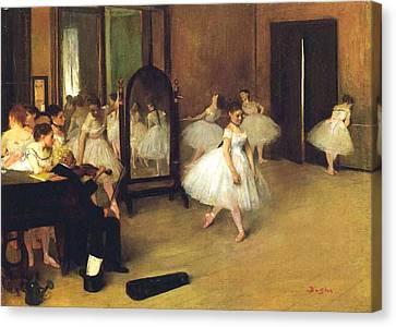 The Dance Hall Canvas Print by Edgar Degas
