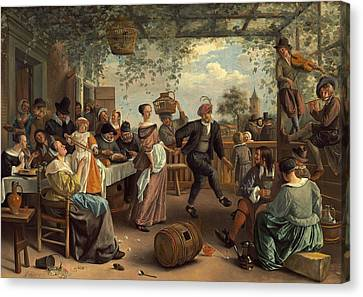 The Dancing Couple Canvas Print by Jan Steen