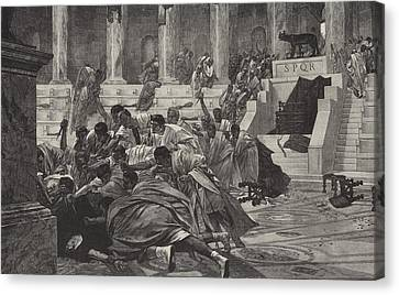 The Death Of Caesar Canvas Print by English School
