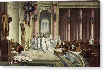 The Death Of Caesar Canvas Print by Jean Leon Gerome