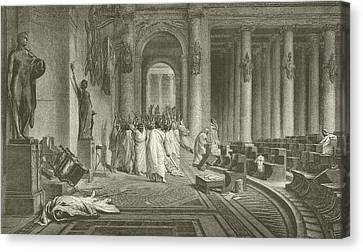 The Death Of Julius Caesar Canvas Print by Jean Leon Gerome