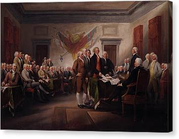 The Declaration Of Independence Canvas Print by Mountain Dreams