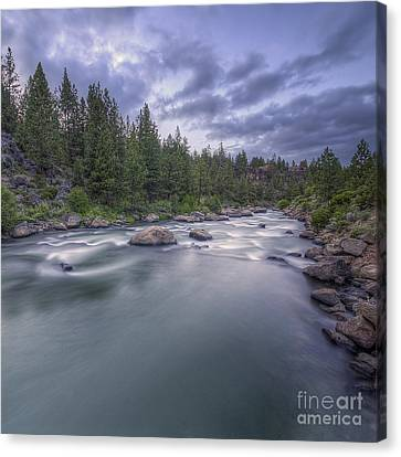The Deschutes River At Dusk Canvas Print by Twenty Two North Photography