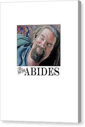 Canvas Print featuring the painting The Dude Abides by Tom Roderick