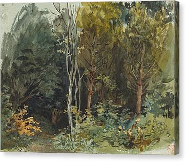 The Edge Of A Wood At Nohant Canvas Print