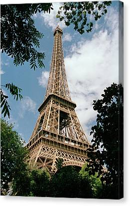 French Culture Canvas Print - The Eiffel Tower, Paris by Martin Diebel