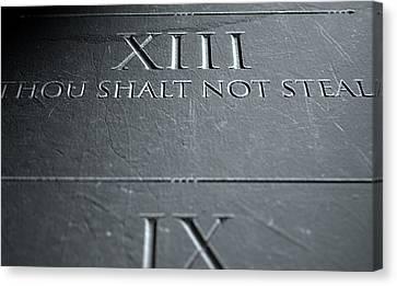 The Eighth Commandment Canvas Print