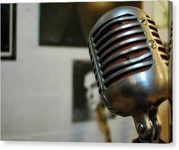 The Elvis Mic Canvas Print by JAMART Photography