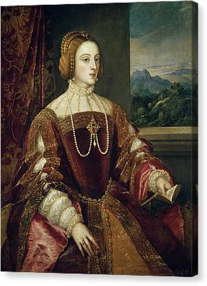 The Empress Isabel Of Portugal Canvas Print
