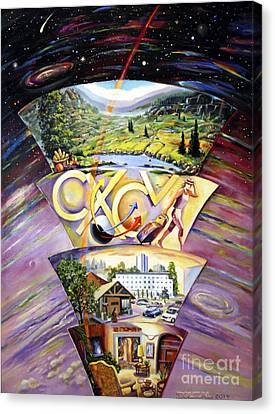 The Essence Of Energy Canvas Print by Alfred Dolezal