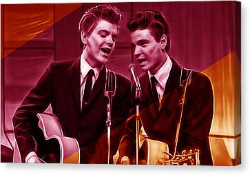 The Everly Brothers Collection Canvas Print