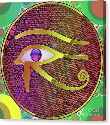 Horus Canvas Print - The Eye Of Horus, Pop Art By Mb by Mary Bassett