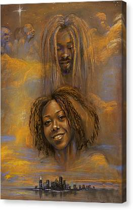 The Faces Of God Canvas Print by Gary Williams