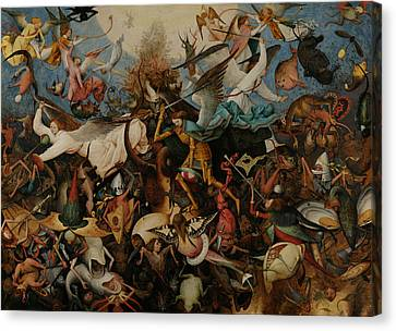 Bruegel Canvas Print - The Fall Of The Rebel Angels by Pieter Bruegel the Elder