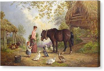 Henry Charles Bryant Canvas Print - The Farm by Henry Charles