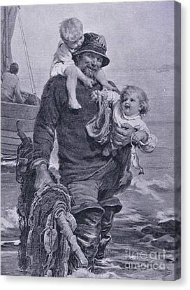 The Ferry Canvas Print by Frederick Morgan