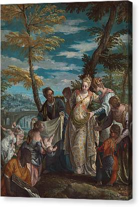 The Finding Of Moses Canvas Print by Paolo Veronese