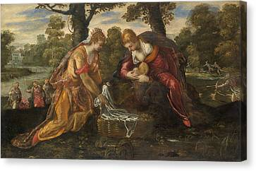 The Finding Of Moses Canvas Print by Tintoretto