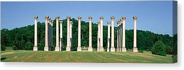 The First Capitol Columns Of The United Canvas Print by Panoramic Images