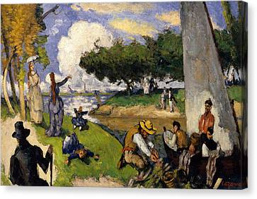 The Fishermen   Fantastic Scene Canvas Print by Paul Cezanne