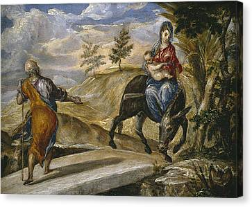 The Flight Into Egypt Canvas Print by El Greco