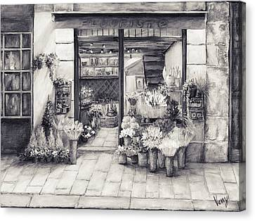 The Flower Shop Canvas Print by Venetka Arsenov