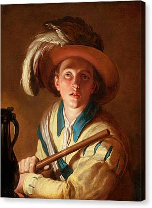 The Flute Player  Canvas Print by Abraham Bloemaert