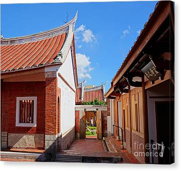 Canvas Print featuring the photograph The Fongyi Imperial Academy In Taiwan by Yali Shi
