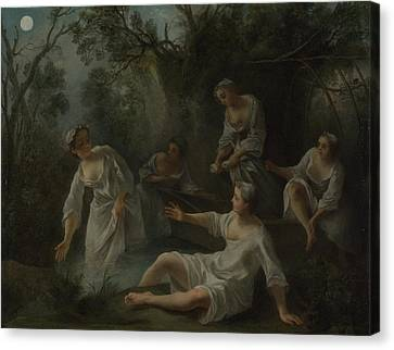 The Four Times Of Day   Evening Canvas Print