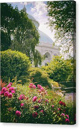 The Garden Conservatory Canvas Print by Jessica Jenney