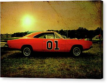 Canvas Print featuring the photograph The General Lee by Joel Witmeyer